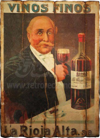 Cuadro de madera vintage RIOJA Bebidas Cuadros Vintage