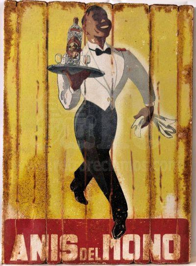 Cuadro de madera vintage ANIS DEL MONO Bebidas Cuadros Vintage