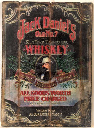 Cuadro de madera vintage JACK DANIELS Inicio Bebidas Cuadros Vintage