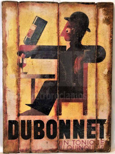 Cuadro de madera vintage DUBONNET Bebidas Cuadros Vintage
