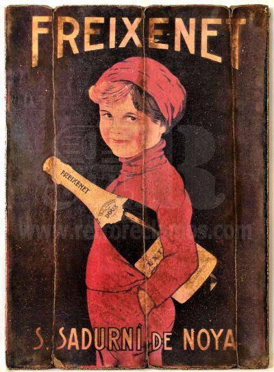 Cuadro de madera vintage FREIXENET Bebidas Cuadros Vintage