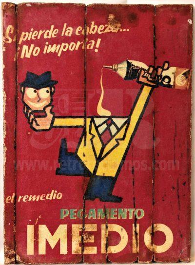 Cuadro de madera vintage IMEDIO Anuncios Cuadros Vintage