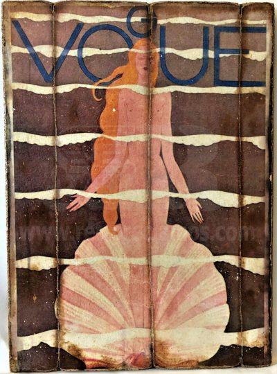 Cuadro de madera vintage VOGUE Cuadros Vintage Glamour