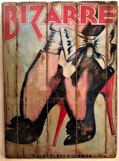 Cuadro de madera vintage BIZARRE Cuadros Vintage Glamour