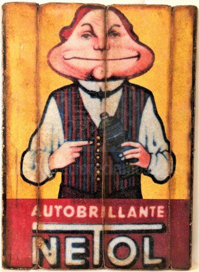 Cuadro de madera vintage NETOL Anuncios Cuadros Vintage