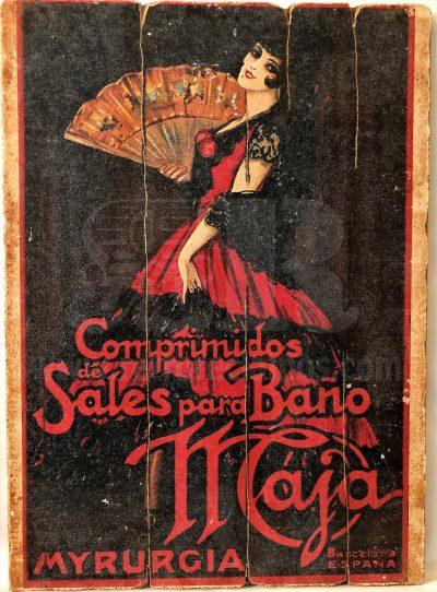 Cuadro de madera vintage MYRURGIA Anuncios Cuadros Vintage