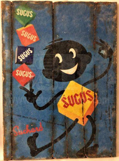 Cuadro de madera vintage SUGUS Anuncios Cuadros Vintage