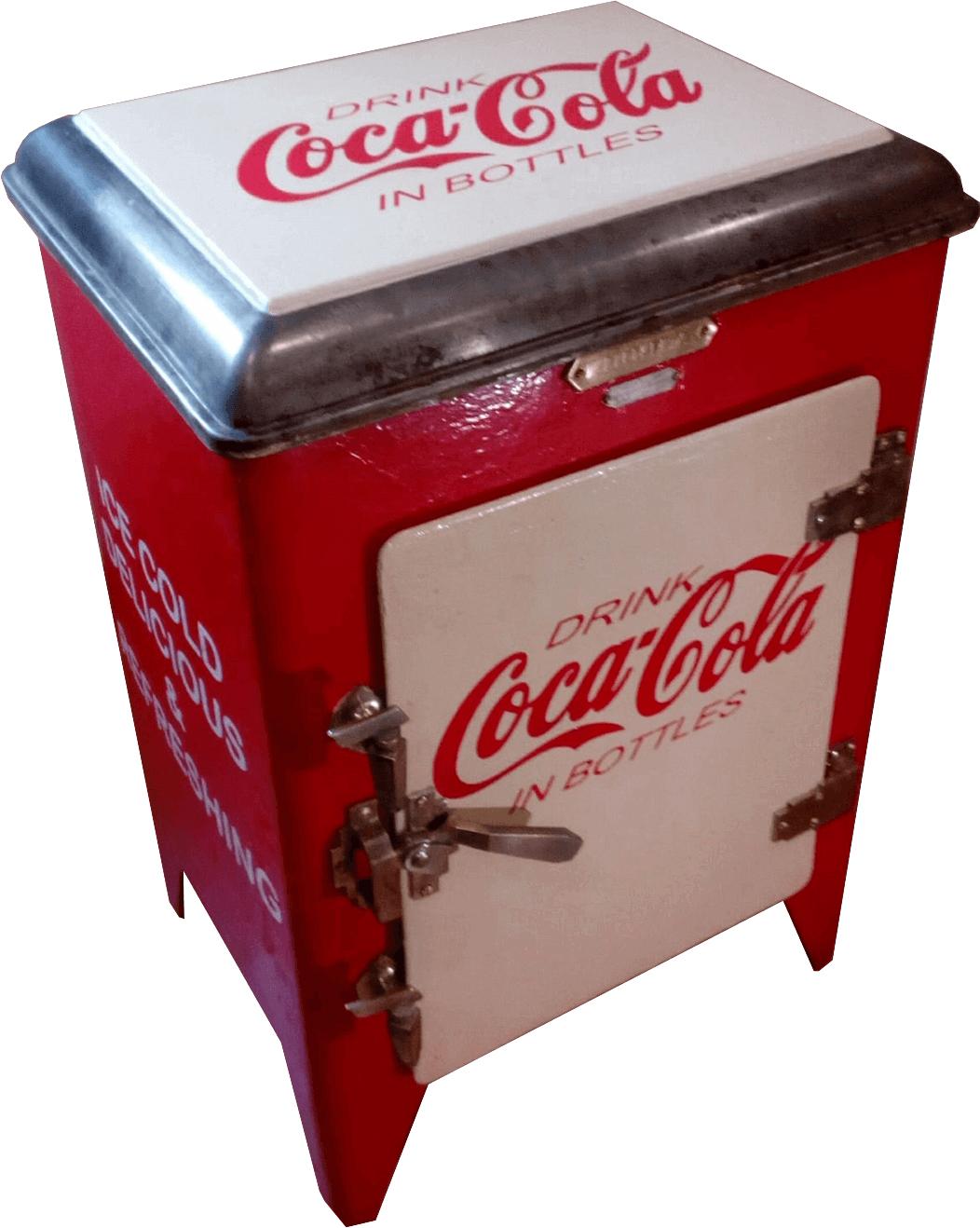 Nevera de chapa vintage Coca-Cola Inicio Neveras de Hielo