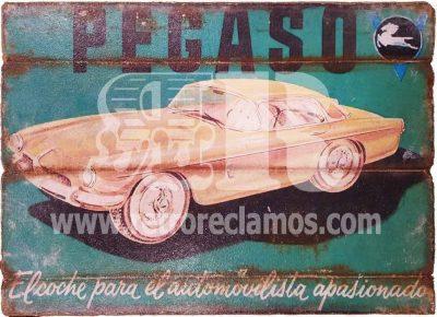 Cuadro de madera Vintage Pegaso Cuadros Vintage de motor para decoraciones